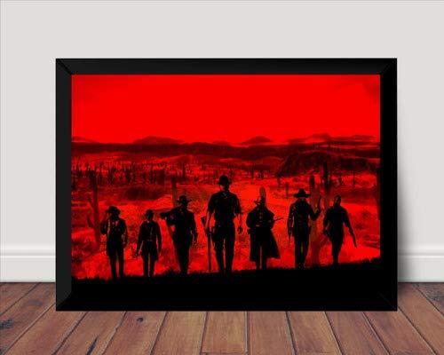 Quadro Red Dead Redemption 2 Arte Simples Poster Moldurado