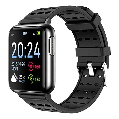 Fitness Tracker Heart Rate Monitor Blood Oxygen Monitor Pedometer Waterproof Smart Watch for Android iOS