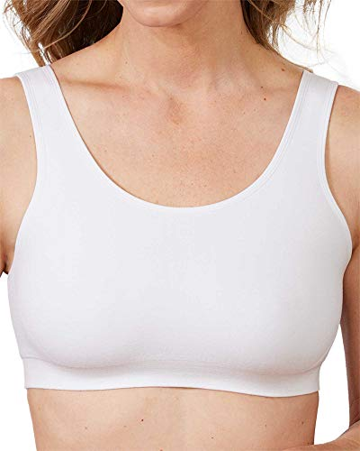 Dynashape Double Layer Soft Bra, White, X-Large