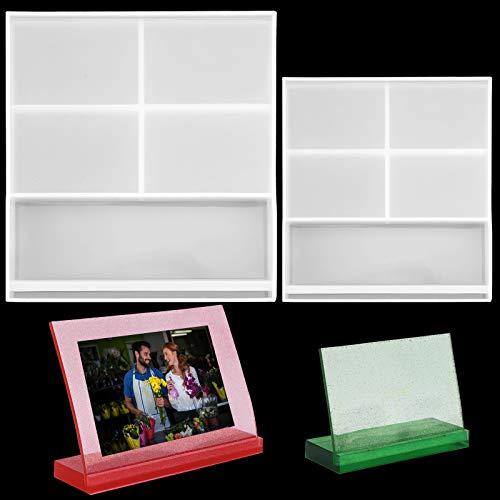 Moldes para marco de fotos,2 piezas para marcos de fotos de resina...