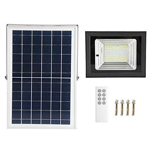 CHICIRIS Led Solar Flood Light, Outdoor Dusk to Dawn Solar Security Light High Bright with Remote, IP65 Waterproof Solar Chargeable Light for Yard, Garden, Ball Court(Style 1)