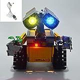 Adecuado para Wali Robot Set de iluminación LED, Compatible con Lego 21303 (Sólo iluminación, sin incluir el Modelo)