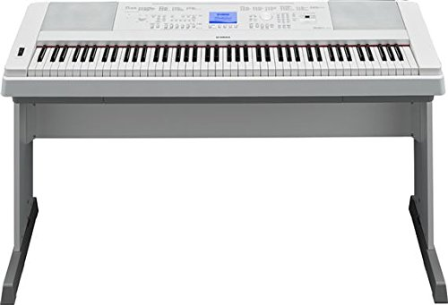Yamaha DGX660WH 88-Key Weighted Digital Piano with Furniture Stand, White