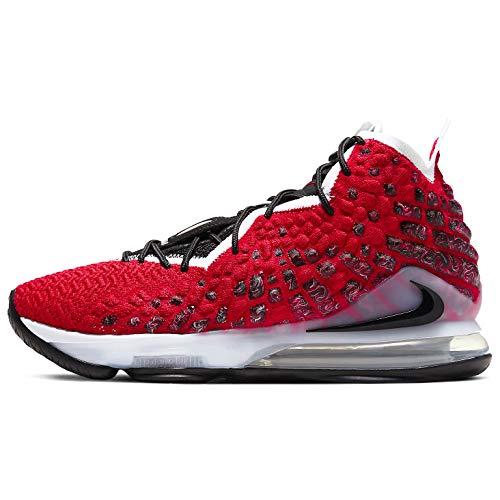 Nike Lebron Xvii Hombres Zapatos De Basquetbol Bq3177-601, Rojo (Negro, rojo), 43.5 EU