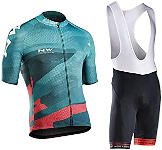 Men's Cycling Suit Short Sleeve Cycling Clothing Set Comfortable Quick Dry Riding Sportswear with Jersey and 9D Gel Padded...