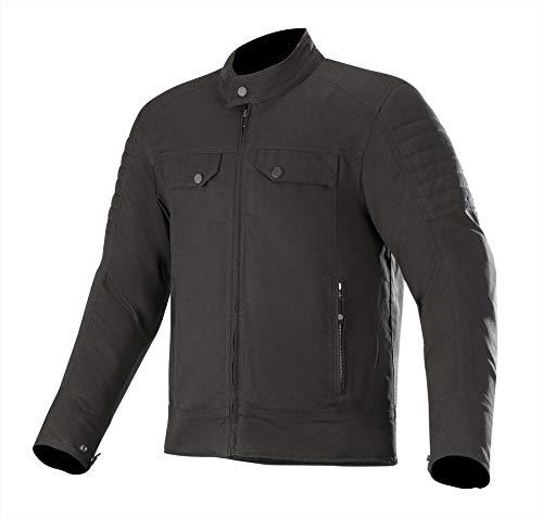 Alpinestars Men's Ray Canvas V2 Street Motorcycle Riding Jacket, Black, Medium