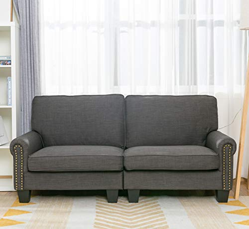 70 Inch Sofa for Living Room,Sofa loveseat Soft and Easily Assemble Couch and Gray UpholsteredBy LifeFair