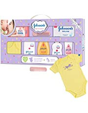 Johnson's Baby Care Collection Baby Gift Set with Organic Cotton Baby Dress
