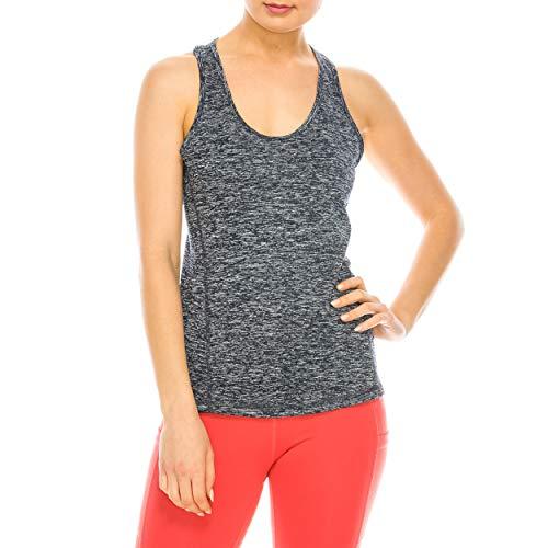 Nolabel Sportshirt, Stretch, Racerback-Tanktop für Frauen, Workout, Yoga, Fitness, Laufen, ärmellos - schwarz - X-Klein