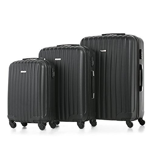 TOMSHOO Mode 3 Stück Kofferset Handkoffer ABS Trolley 20