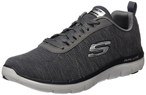 Skechers Men's Flex Advantage 2.0 Multisport Outdoor Shoes, Grey (Char), 11 UK 46 EU