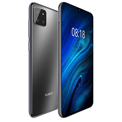 "CUBOT X20pro 4G Android 9.0 Teléfono Movil Libre Pantalla 6,3"" 19.5:9 FHD+, AI Triple Cámara Trasera, P60 Octa-Core Dual Sim,Face ID,Huella Dectilares 6GB RAM 128GB ROM, Batería 4000mAh (Negro)"