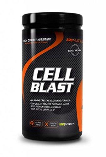 SRS Muscle - Cell Blast, 800 g, Orange | Lean Muscle All-in-one | ohne zugesetzte Kohlenhydrate | mit Creapure®, Glutamin, Arginin, AAKG, Beta Alanin u.a.m. | deutsche Premiumqualität