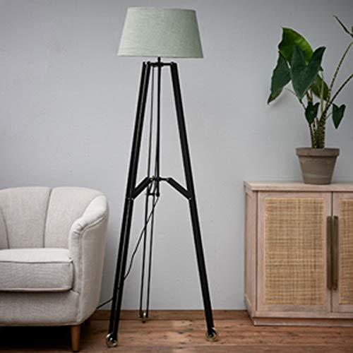 Riviera Maison - Rockefeller - Lámpara de pie - Negro - Aluminio - 70 x 150 x 70 cm - Sin pantalla.