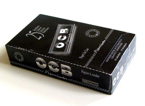 OCB 25 x Rolling Paper Premium Black 1 1/4-78mm