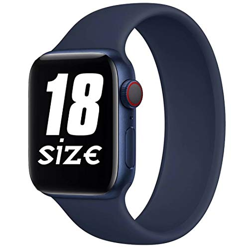 Fengyiyuda Compatibile con Solo Loop Cinturino per Apple Watch 38mm 40mm 42mm 44mm, Cinturino di Ricambio Lo Sport in Elastico in Silicone per Iwatch 6/SE/5/4/3/2/1
