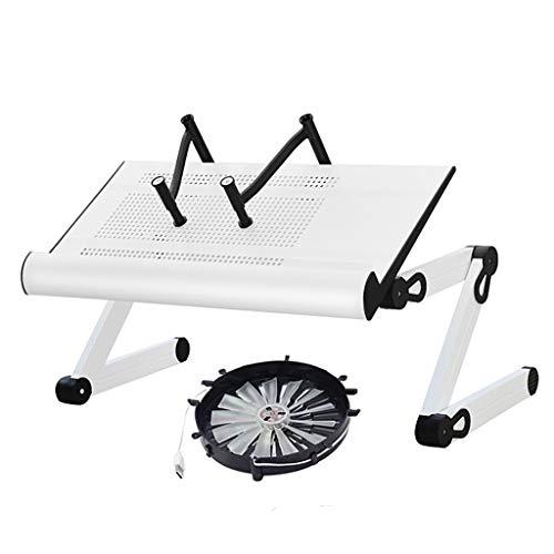 Li Jian Limited bedrijf Vouwtafel/Draagbaar Verstelbaar Aluminium Laptop Bureau Stand Tafel Geventileerde Notebook tafel Ergonomische Extra Brede Lade TV Bed Lap Lade Stad omhoog