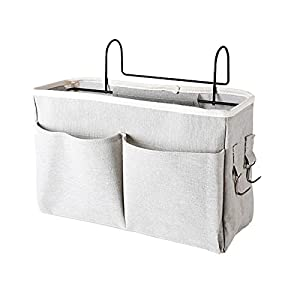 KAOROU Nursery Diaper Caddy Organizer Baby Hanging Mesh Storage Bag Bedside Pouch, Suitable for Bunk Dorm Rooms, Bed Rails, Baby Bed