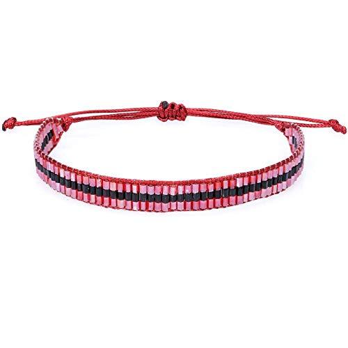 Bracelet Nouveau Cristal Verre Tube Perles Bracelet Fait Main pour Femmes Hommes Réglable Corde Bracelets Bracelet Bijoux De Mode Cadeau A-7