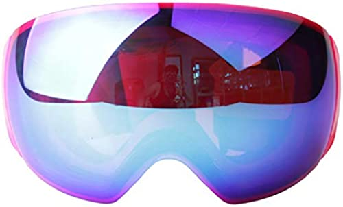 Lunettes de Ski Double Anti-Brouillard Boule Visage Alpinisme Miroir Lunettes de Neige