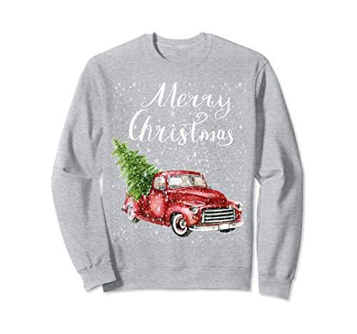 Vintage Red Pickup Truck Merry Christmas Sweatshirt