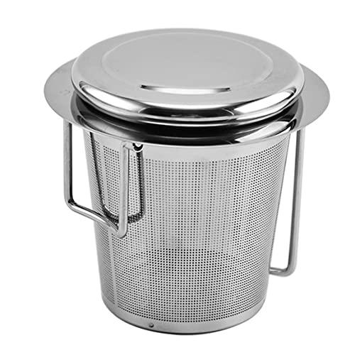 BXJJJK Colador de té de Acero Inoxidable 304 Plegable binaural té Filtro de residuos de té Accesorios de Ceremonia del té Plata