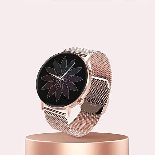 xiaoxioaguo Reloj inteligente para hombre y mujer, 1,3 pulgadas, pantalla táctil completa, IP67, para actividades al aire libre, color rosa