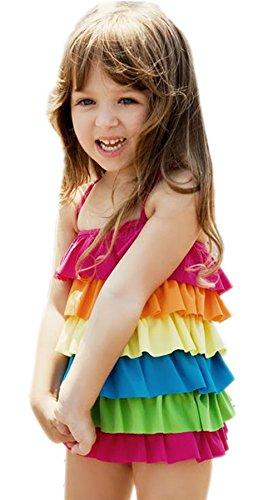 Secret Château de Bain pour bébé Fille Robes Rainbow Bain pour 2–7 Ans Vieux U1149 - -