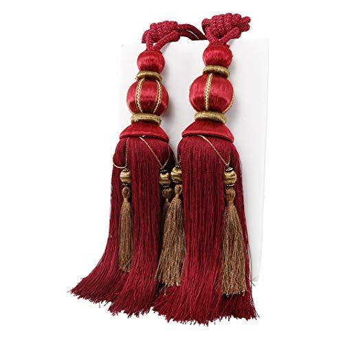 YunNasi - 1 par de alzapaños para Cortinas, Hecho a Mano, con borlas, para decoración del hogar o la Oficina