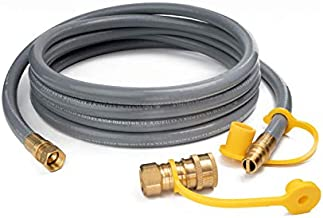 GASPRO 3/8-Inch Natural Gas Quick Connect Hose, Propane to Natural Gas Conversion Kit for Grill, Smoker, Generator, Fire Pit, Patio Heater and More, 12-Foot