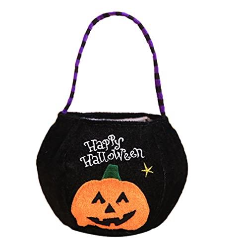 5 PCS Calabaza de Halloween Bolsa de mano de Halloween Props cesta no tejidas bolsa de caramelo Inicio Storgué TIANLILI (Color : C)
