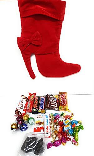 Calza Befana Tacco Con Cioccolatini Kinder e Caramelle Assortite.