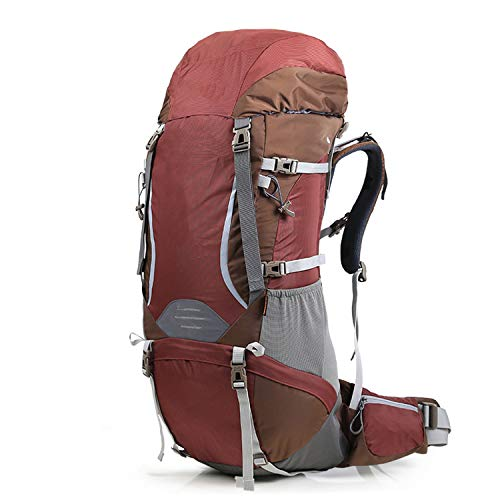 OASIS LAND 70L Hiking Backpack Professional Climb Bag Outdoor Travel Backpack Camping Equip Trekking Rucksack Men Women-PurplishRed70L-OneSize