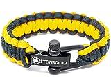 Steinbock7 - Pulsera de supervivencia de paracaídas, color amarillo y negro