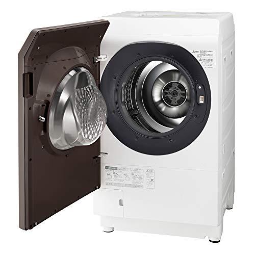 シャープ洗濯機ドラム式洗濯機ヒートポンプ乾燥左開き(ヒンジ左)DDインバーター搭載ブラウン系洗濯11kg/乾燥6kg幅640mm奥行728mmES-G112-TL