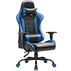 Comfortable design: Large and wide backrest and seat cushion, thicker padded and deeper bucket seat for maximum comfort,provides a better experience and makes you enjoy intense gaming time Multifunction: Ergonomic chair covered by breathable premium ...