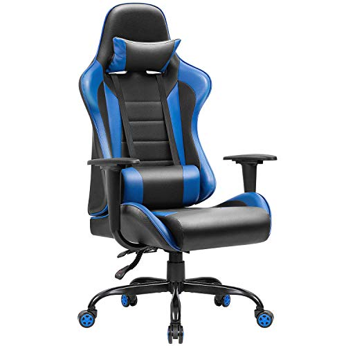 Jummico Gaming Chair Ergonomic High Back Racing Computer Chair Adjustable Leather Swivel Executive Office Desk Chair with Headrest and Lumbar...