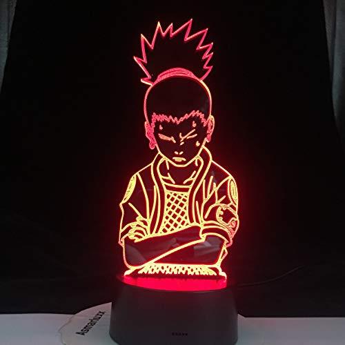 hqhqhq Shikamaru Nara - Lámpara LED nocturna con sensor de la amistad y mando a distancia (1314)