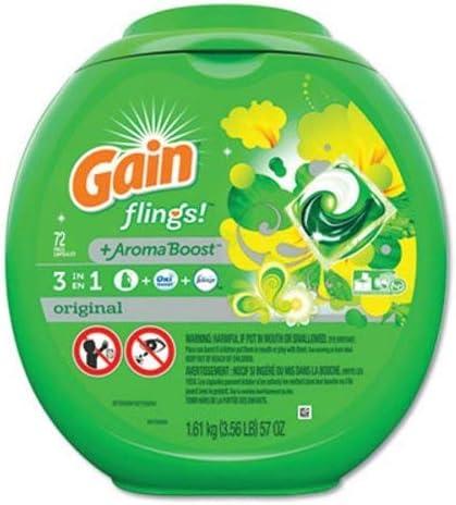 Outlet sale feature Gain Flings Original Scent Laundry Sale Detergent per Pac 72 Count P