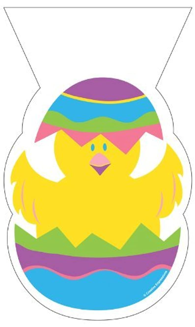 Chick Shaped Cellophane Easter Treat Bags (pack of 20 bags + 20 twist ties)