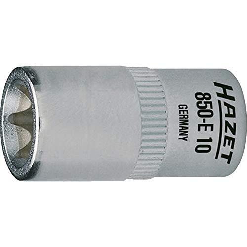 Hazet 850-E10 Douille carré creux 6,3 mm torx extérieur Taille E 10 longueur 25 mm