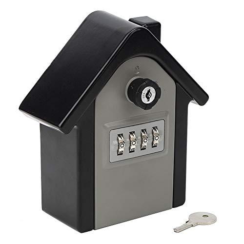 Caja de seguridad para llaves montada en la pared, resistente a la intemperie, de aleación de aluminio, caja de almacenamiento con combinación de contraseña de 4 dígitos