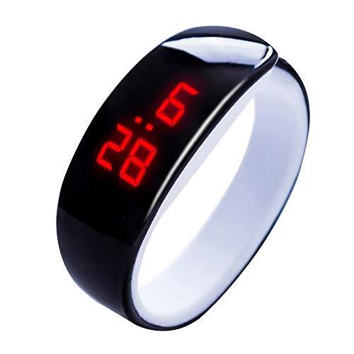 Tonsee LED Digitalanzeige Armbanduhr Fitness Armband Silikon Stoppuhren Sportuhren Schrittzähler Kalorienzähler Sport Smart Uhr Mode Sport Uhr Delphin Uhr für Damen Herren und Kinder (Schwarz)