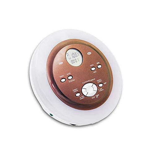 Personal CD Player, con Auriculares y Fuente de alimentación, Compact Walkman con electrónico Skip Protection Anti Shock