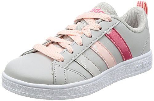 adidas Vs Advantage K, Zapatillas de Deporte Unisex niños, Gris (Gridos/Supros/Roshel), 33.5 EU