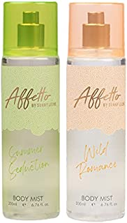 Affetto By Sunny Leone Summer Seduction & Wild Romance Body Mist - For Women 200ML Each (400ML, Pack of 2)