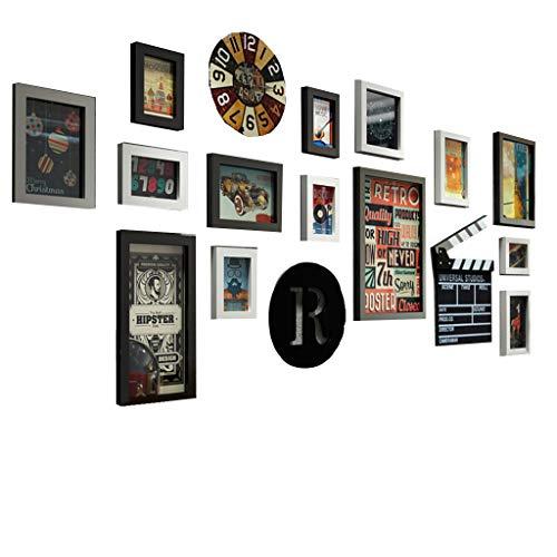Zelfs fotolijsten Collage fotolijsten Wall Gallery Kit voor muur en huis, Wall Art voor woonkamer grote galerij muur Frame Set met volledige grootte opknoping sjabloon & muur montage ontwerp