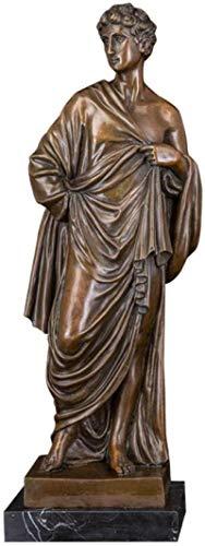 HZYDD Adornos de la Estatua Esculturas Figura de la Estatua de Bronce Figura Monje Escultura Monje Estatuillas Decoración