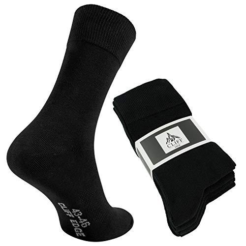 Cliff Edge atmungsaktive PREMIUM Business-Socken Herrensocken kein Schwitzen dank bester Qualität (39-42, Schwarz - 5 Paar)