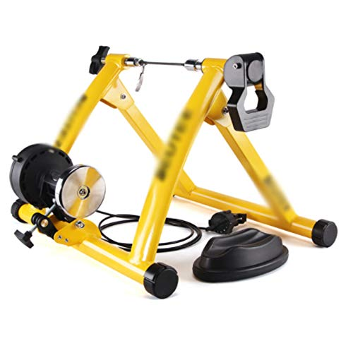 TGhosts Bike Trainer, Indoor Cycling Bike Trainer Roller MTB Road Bicycle Cycling Fitness Workout Tool (Color : Yellow)